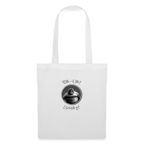 monke design uh oh stinky - Tote Bag