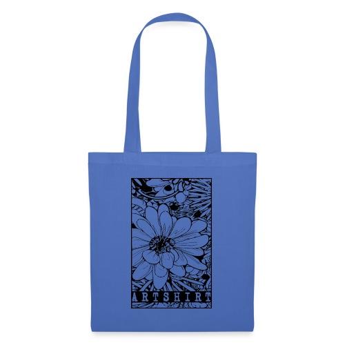 bloem motief artshirt - Tas van stof