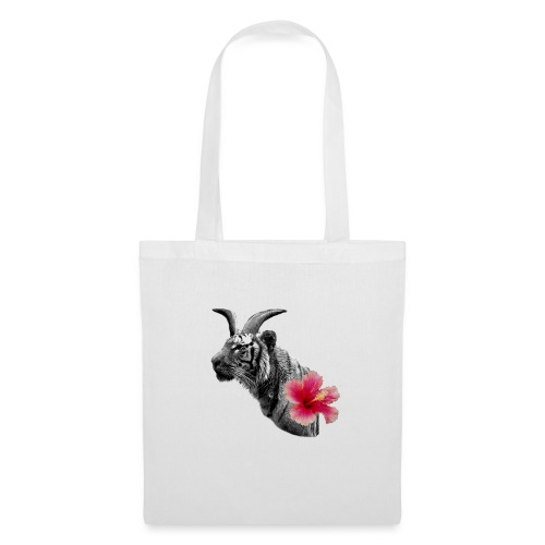 Horned Tiger Hibiscus graphic - Tote Bag
