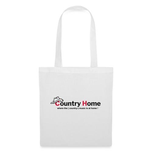 CountryHome Logo mit Slogan (Englisch) - Stoffbeutel