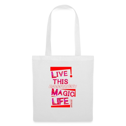 live this magic life tekst rood - Tas van stof