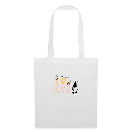papa maman moi Lucie fille - Tote Bag