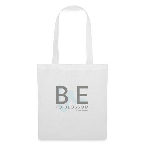Be to blossom with swoosh (gray) -Power to Blossom - Tote Bag