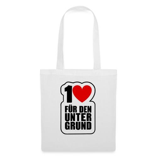 1 Herz für den Untergrund - Original Logo - Stoffbeutel