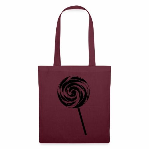Retro Lutscher - Lollipop Design - Schwarz Weiß - Stoffbeutel
