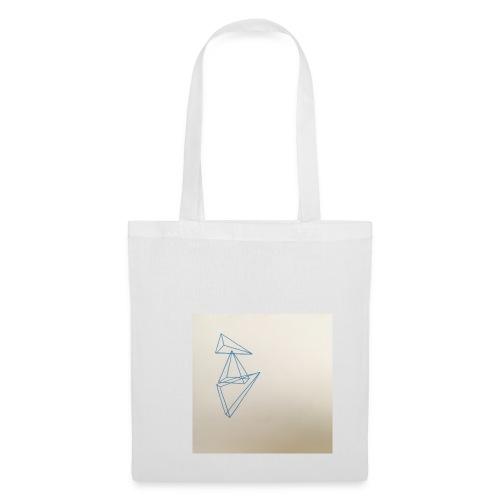 triangles bleu - Sac en tissu