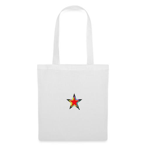 Colored star - Stoffbeutel