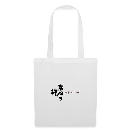 Calligraphy and logo La quarta corda (black) - Borsa di stoffa