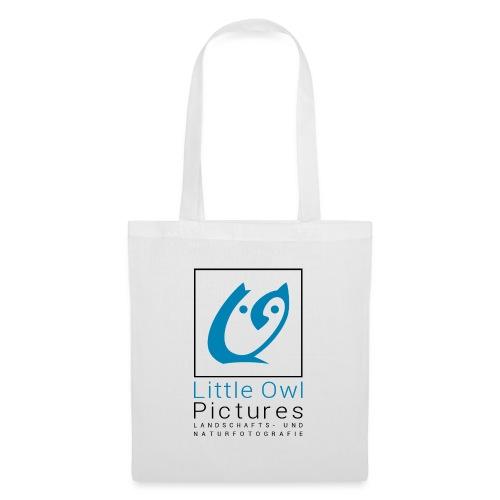 Little Owl Pictures Logo (schwarz/blau) - Stoffbeutel