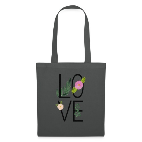 Love Sign with flowers - Tote Bag