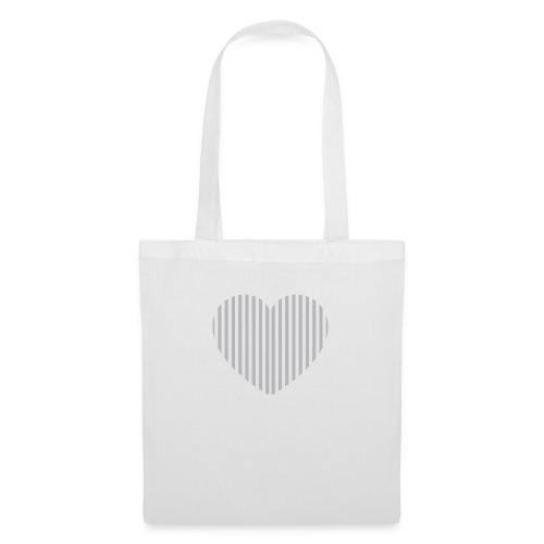 heart_striped.png - Tote Bag
