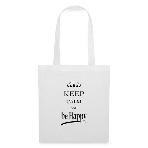 keep_calm and_be_happy-01 - Borsa di stoffa