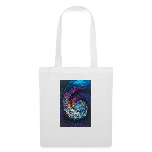 espiral ocea nica - Bolsa de tela