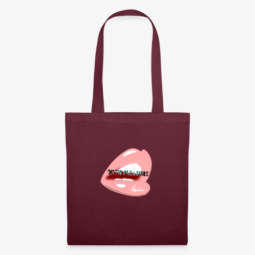 With Pleasure Mouth Logo - Tote Bag