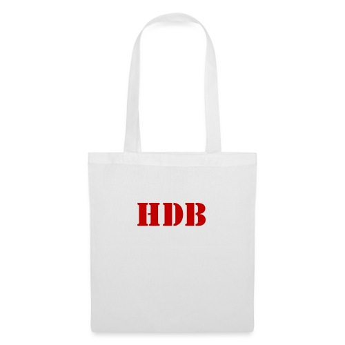 HDB Mok binnenkant rood - Tas van stof