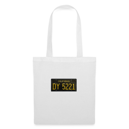 CALIFORNIA BLACK LICENCE PLATE - Tote Bag