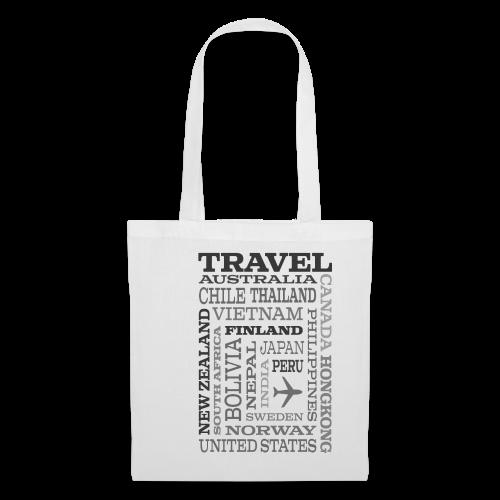 Travel Places Gray design - Kangaskassi