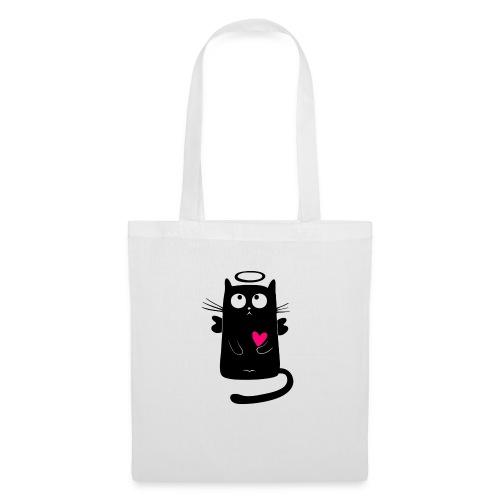 cat comic - Stoffbeutel