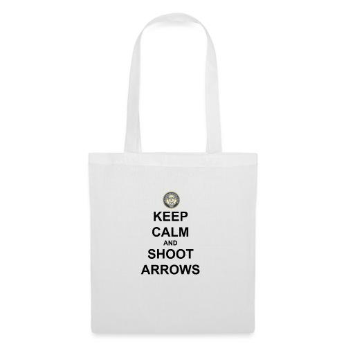 Keep Calm And Shoot Arrows - Svart Text - Tygväska