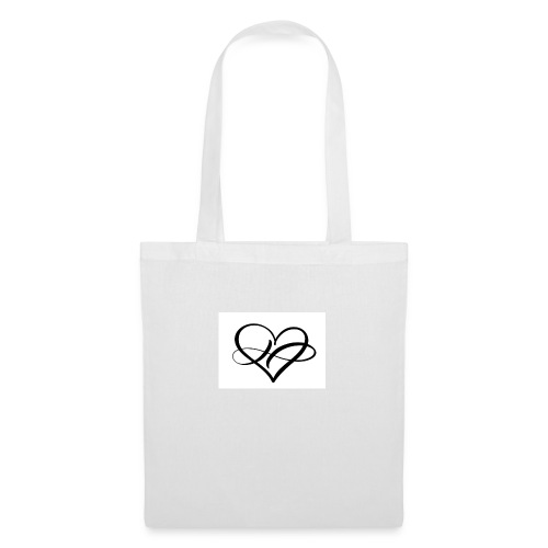heart love sign forever logo infinity romantic - Stoffbeutel