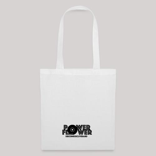 Logo PowerFlower Nero - Borsa di stoffa