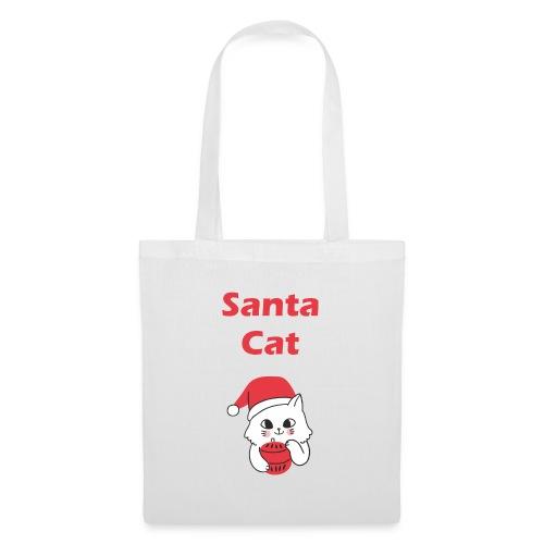 Weihnachts T-Shirt Katzen | Santa Cat | Geschenk - Stoffbeutel