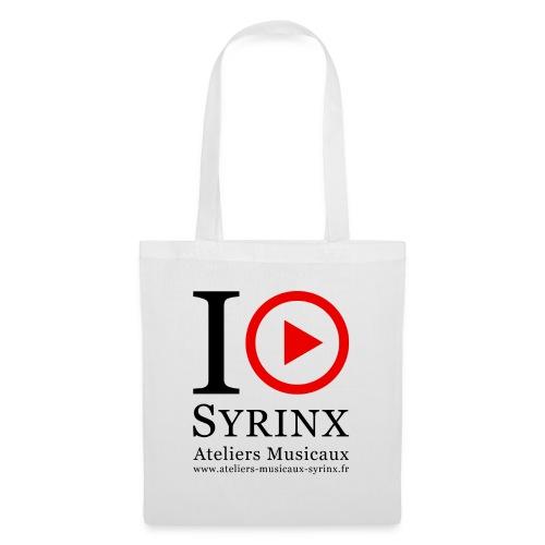 Logo IPSyrinx White Line - Sac en tissu