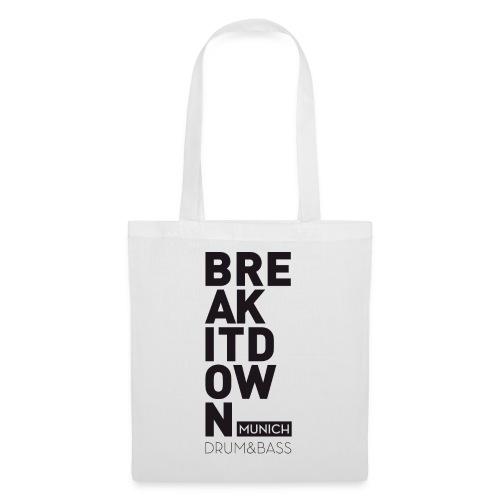 Break it Down (Black) - Stoffbeutel