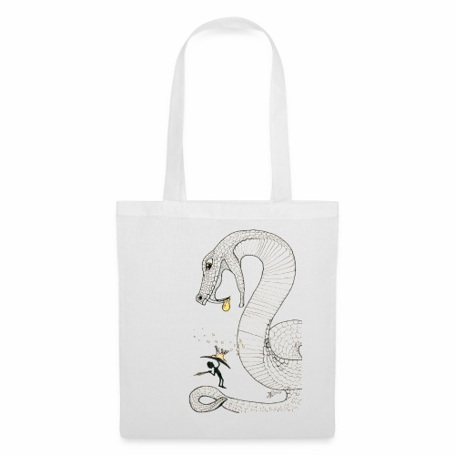 Poison - Fight against a giant poisonous snake - Tote Bag