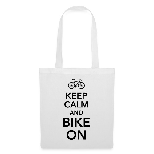 keep calm and bike on Fahrrad Drahtesel Sattel - Tote Bag