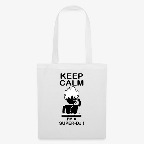 KEEP CALM SUPER DJ B&W - Tote Bag