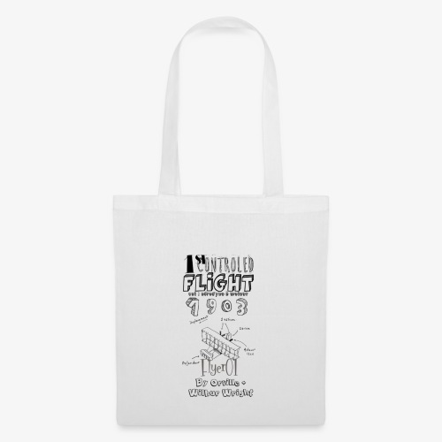 1stcontroled flight - Tote Bag