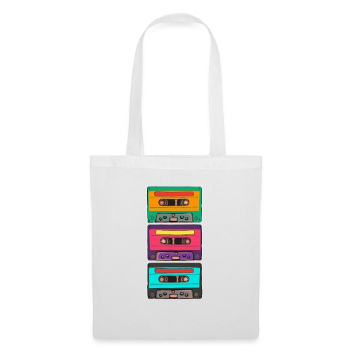 Colorful Cassettes row - Tygväska
