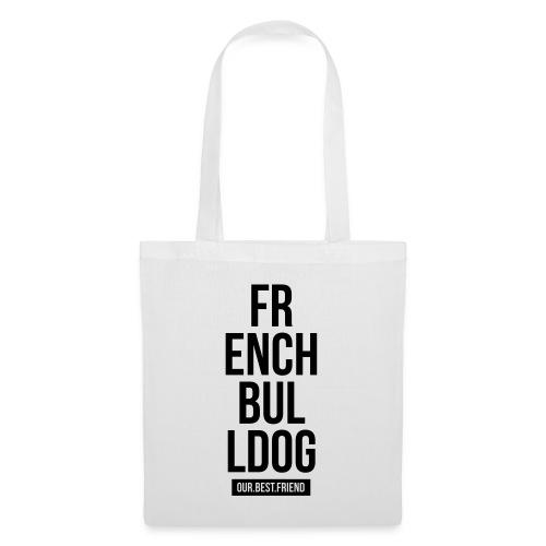 French Bulldog Script - Stoffbeutel