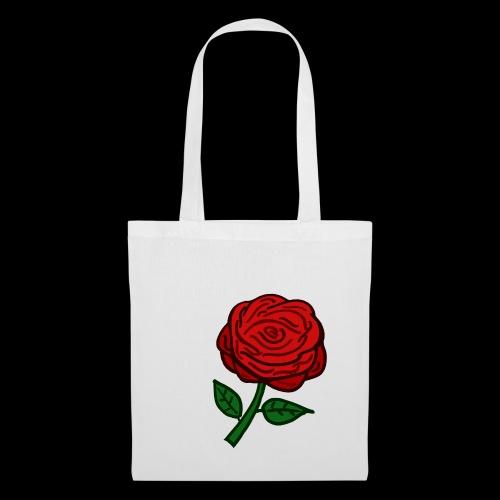 Rote Rose - Stoffbeutel