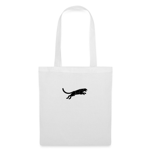 Abstract Silhouette of a Black Panther Vector - Borsa di stoffa