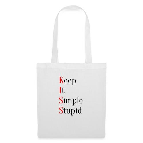 KISS - Keep It Simple Stupid - Stoffveske