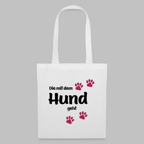 Die Mit Dem Hund Geht - Edition Colored Paw - Stoffbeutel