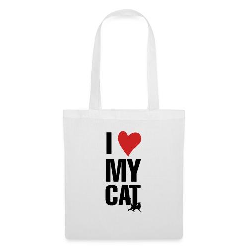I_LOVE_MY_CAT-png - Bolsa de tela