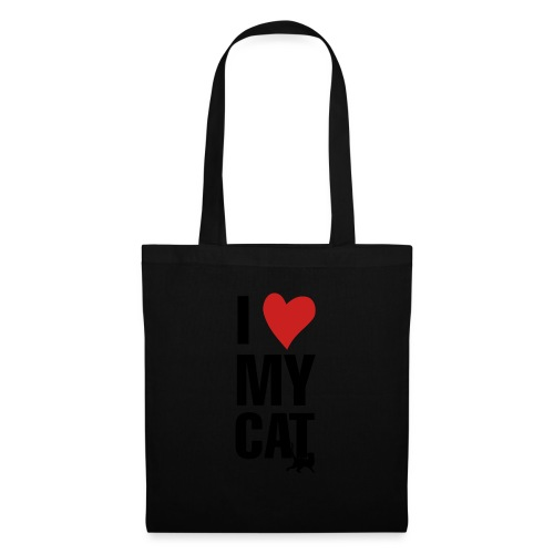 I_LOVE_MY_CAT-png - Bolsa de tela