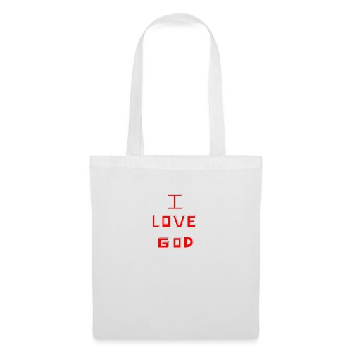 I LOVE GOD - Bolsa de tela