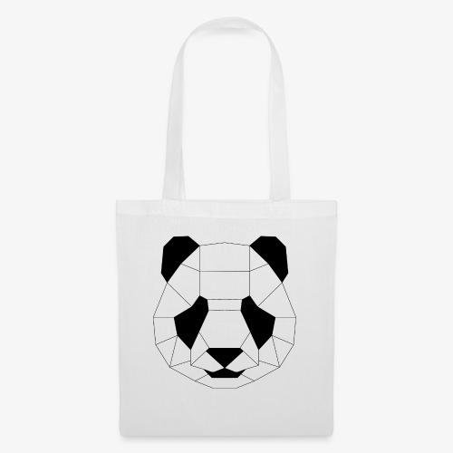 Panda schwarz - Stoffbeutel