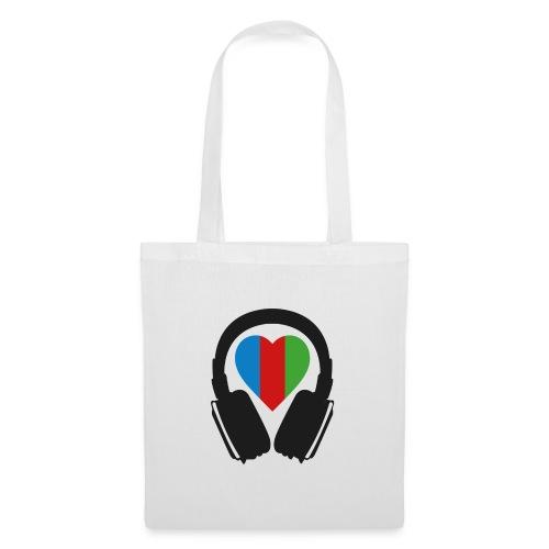 Silent Disco Headphone > Heart | black - Stoffbeutel