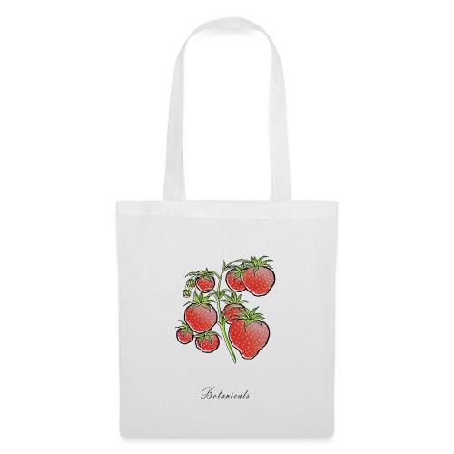Disegno pianta di fragole - Borsa di stoffa
