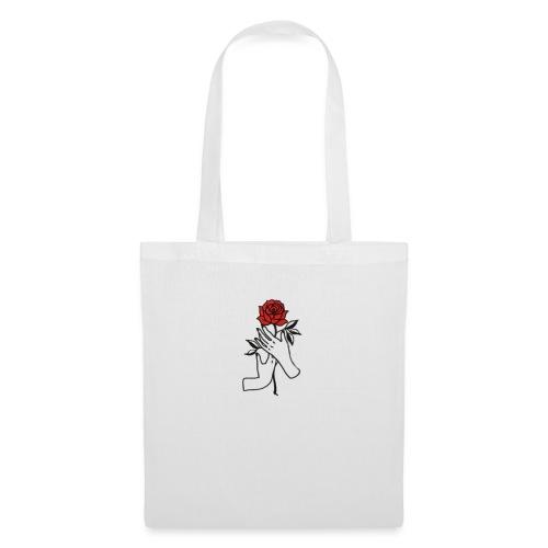 Fiore rosso - Borsa di stoffa