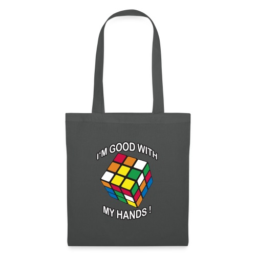 Rubik's Cube Quotes I'm Good With My Hands - Tygväska