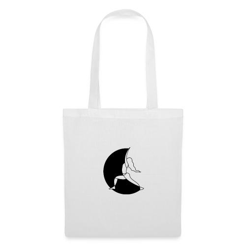 Warrior Princess Yoga Logo black Moon - Tote Bag