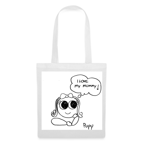 Pupy: I love my mummy! - girl - Borsa di stoffa