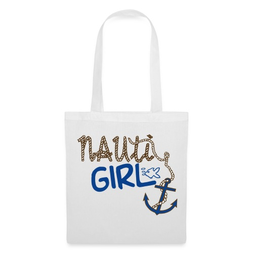 Nauti Girl Nautical Boat Shirt - Tote Bag