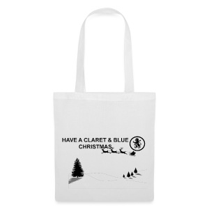 Claret and Blue Xmas - Tote Bag